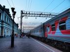 The last russian sunset at the train station - Irkutsk