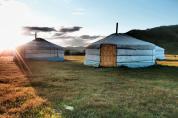 Sunset on the ger camp - Terelj National Park