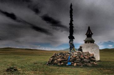 Ovoo and stupa - Terelj National Park