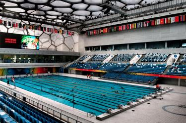 Inside the Olympic swimming pool - Beijing