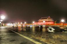 Traffic in front of the Gate of Heavenly Peace - Beijing