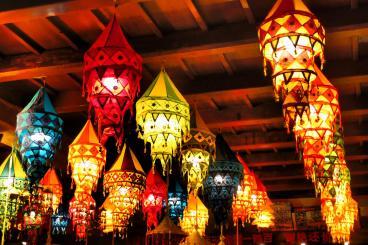 Coloured lanterns - Pingyao