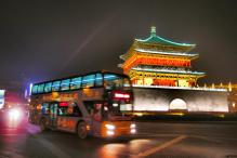 Bell Tower and bus - Xian