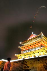 Drum Tower and kite - Xian