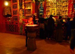 Pilgrims at Drepung Monastery