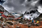 Mount Kailash from Kangkyam glacier